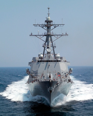 "Military Ship「""Gulf of Mexico (June 27, 2005) ? The Pre-Commissioning Unit guided missile destroyer Forrest Sherman (DDG 98) underway in the Gulf of Mexico during sea trial exercises.""」:スマホ壁紙(9)"