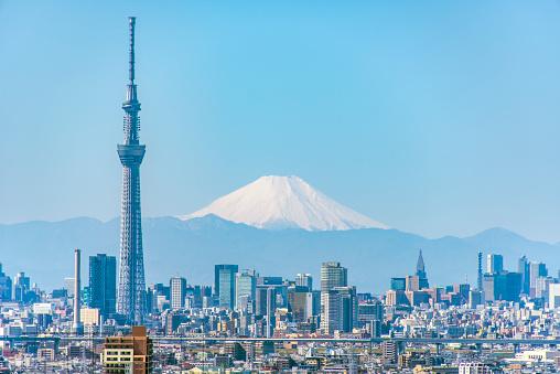 Tokyo Sky Tree「Mt Fuji & Tokyo Sky Tree」:スマホ壁紙(6)