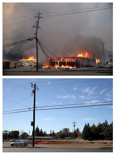 Composite Image「Then And Now: One Year After Devastating Paradise, CA Fire That Killed 85」:写真・画像(1)[壁紙.com]
