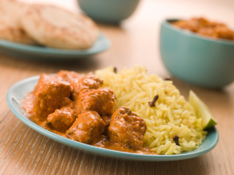 Basmati Rice「Plated Chicken Korma with Pilau Rice and Naan bread」:スマホ壁紙(6)