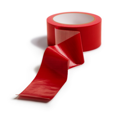 Sticky「Adhesive Red Tape Isolated on White」:スマホ壁紙(18)