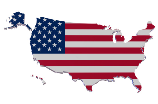 Patriotism「The flag of the USA illustrated as a map of the USA」:スマホ壁紙(16)