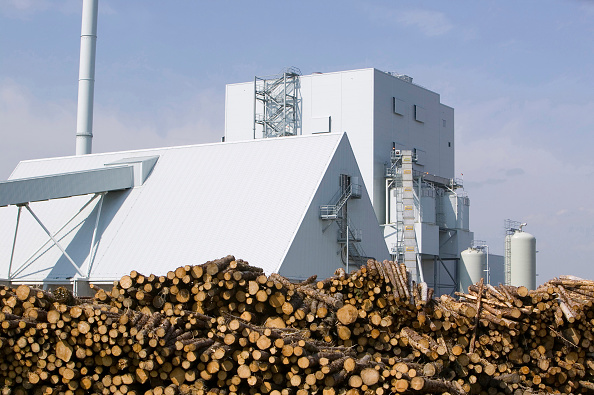 Environmental Conservation「E.ON's biofuel power station in Lockerbie Scotland with timber supplies.The power station is fuelled 100% by wood sourced from local woodlands and generates enough electricity to supply 70 000 houses. The plant is carbon neutral」:写真・画像(14)[壁紙.com]