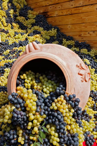 Grape「Grapes spilling out of ceramic pot on parade float」:スマホ壁紙(14)