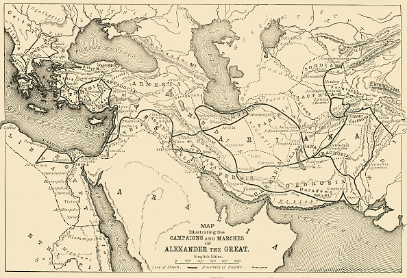 Middle East「Map Illustrating The Campaigns And Marches Of Alexander The Great」:写真・画像(14)[壁紙.com]