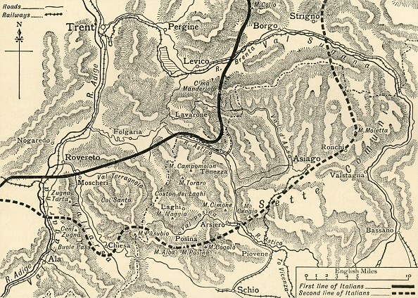 European Alps「Map Illustrating The Austrian Attack In The Trentino」:写真・画像(16)[壁紙.com]