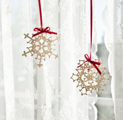 雪の結晶「スノーフレーク装飾のウィンドウ」:スマホ壁紙(15)