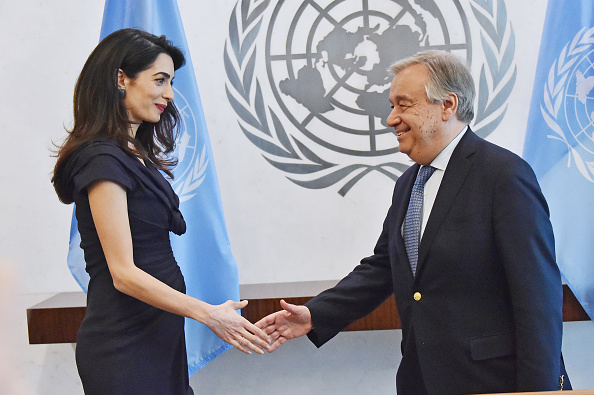 United Nations Building「Amal Clooney Visits The Secretary-General Of The United Nations Antonio Guterres」:写真・画像(18)[壁紙.com]