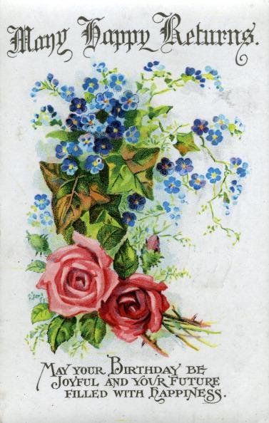 Birthday Card「'Many Happy Returns', birthday card, c1921.」:写真・画像(12)[壁紙.com]