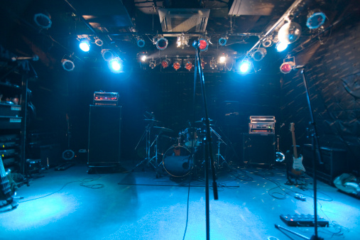 Rock Music「Band equipment on stage」:スマホ壁紙(15)
