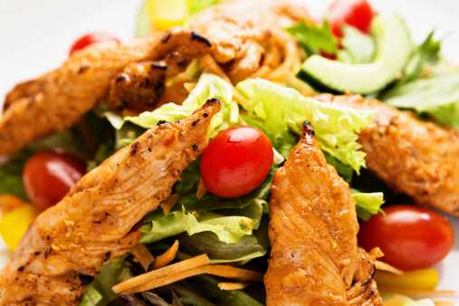 Chicken Tandoori「Tasty low-carb meal of spiced chicken and a mixed salad」:スマホ壁紙(4)