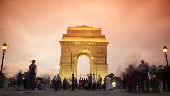 Unrecognizable Person「India Gate」:スマホ壁紙(8)
