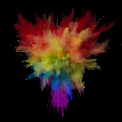 Rainbow「Exploding Multi Colored Powder in Triangle shape」:スマホ壁紙(6)