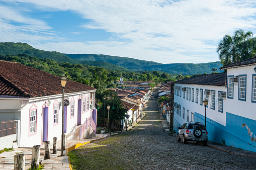 Alley「Colonial architecture in the rural village of Pirenopolis, Goias, Brazil」:スマホ壁紙(18)