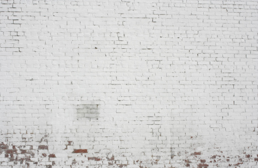 White Brick Wall「Old painted white Brick wall background pattern design」:スマホ壁紙(1)