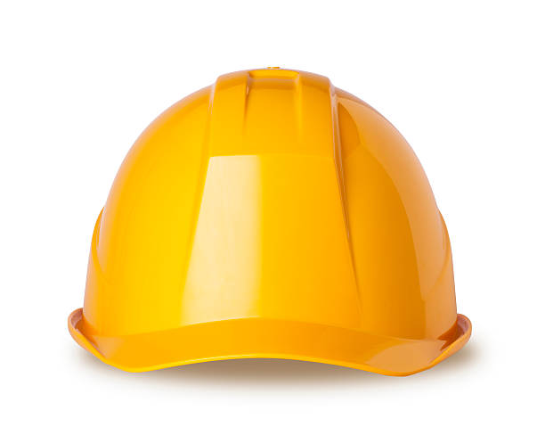 Yellow hard hat on white with clipping path:スマホ壁紙(壁紙.com)