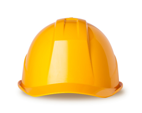 Protection「Yellow hard hat on white with clipping path」:スマホ壁紙(12)