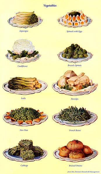 Asparagus「Mrs Beeton s cookery book  - vegetables」:写真・画像(1)[壁紙.com]