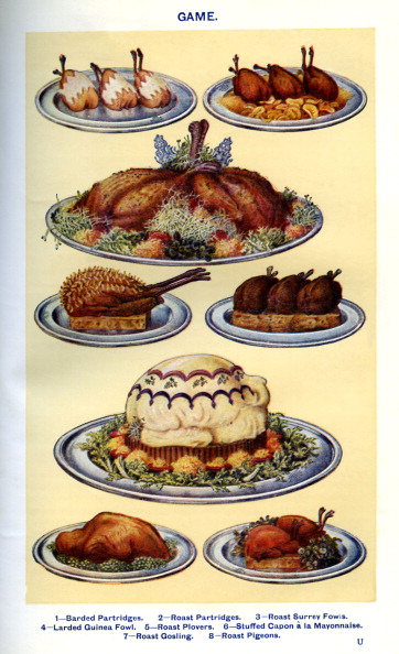 Roast Dinner「Mrs Beeton 's cookery book - game dishes」:写真・画像(15)[壁紙.com]