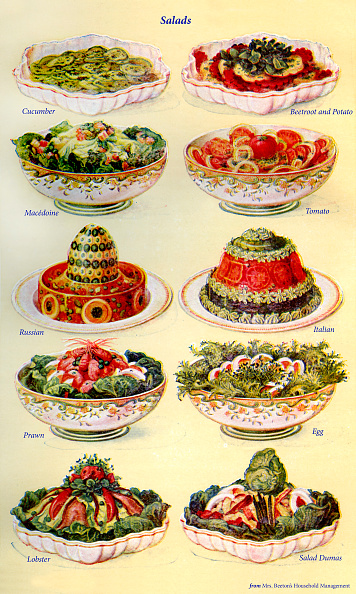Salad「Mrs Beeton s cookery book  - salads (fro」:写真・画像(5)[壁紙.com]