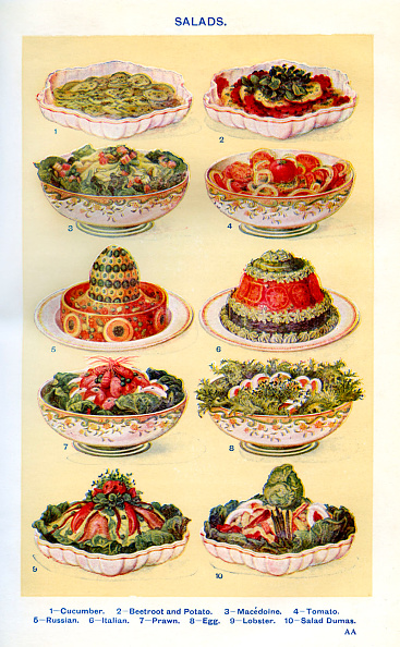 Salad「Mrs Beeton 's cookery book - salads」:写真・画像(3)[壁紙.com]