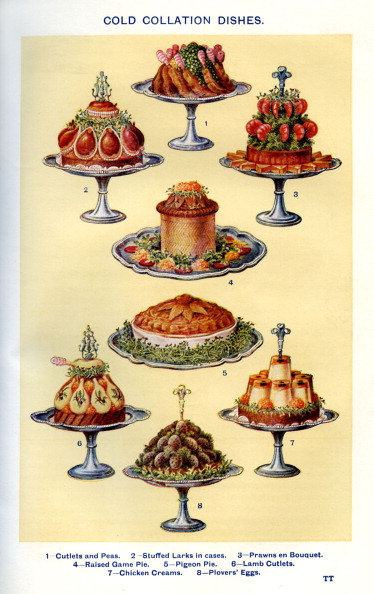 Stoneware「Mrs Beeton 's cookery book - cold collation dishes」:写真・画像(13)[壁紙.com]