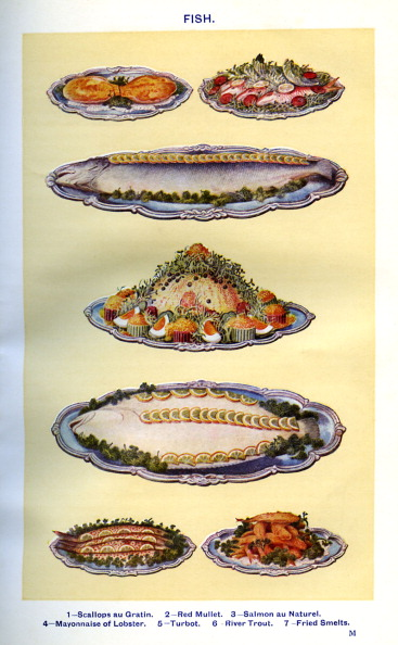 Crockery「Mrs Beeton 's cookery book - cooked fish dishes」:写真・画像(17)[壁紙.com]