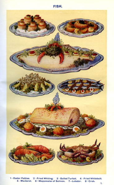 Mrs Beeton「Mrs Beeton 's cookery book -  cooked fish dishes」:写真・画像(14)[壁紙.com]