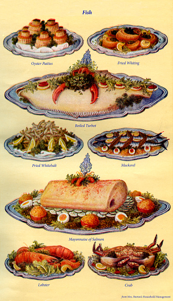 Condiment「Mrs Beeton s cookery book  - fish dishes」:写真・画像(5)[壁紙.com]