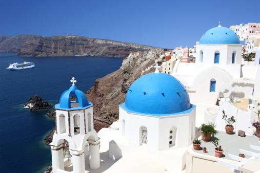 Cruise - Vacation「Blue Domes of Santorini」:スマホ壁紙(2)