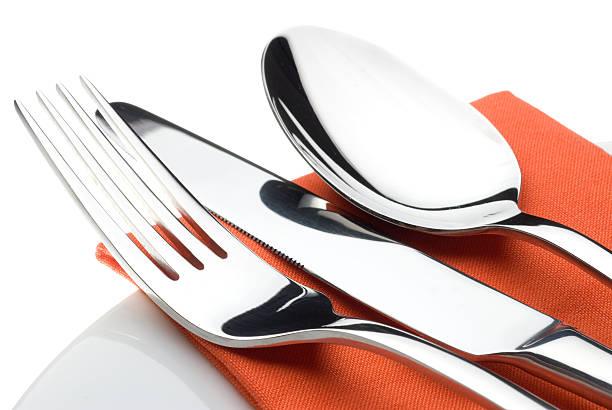 Knife, fork and spoon:スマホ壁紙(壁紙.com)