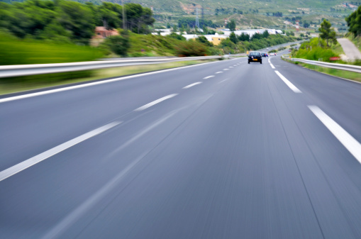Multiple Lane Highway「Speeding cars on A6 highway, Provence, France」:スマホ壁紙(15)