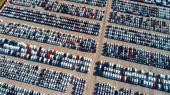 Car Dealership「Car depotfrom above」:スマホ壁紙(13)