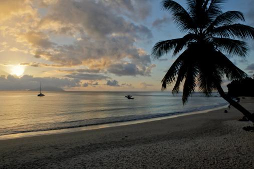 ビーチ「Beach of Beau Vallon in Seychelles」:スマホ壁紙(2)