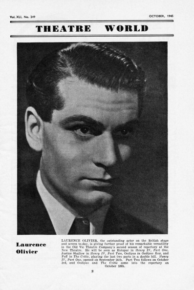 20th Century Style「Sir Laurence Olivier - portrait of the English actor, director, & producer in 1945.」:写真・画像(13)[壁紙.com]