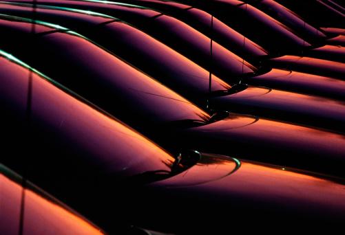 Car Dealership「New cars at sunset」:スマホ壁紙(2)