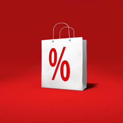 Percentage Sign「Paper-Bag with percentage sign on red」:スマホ壁紙(13)