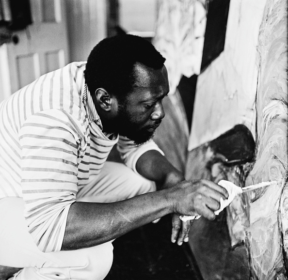 Painter - Artist「Frank Bowling At Work」:写真・画像(3)[壁紙.com]