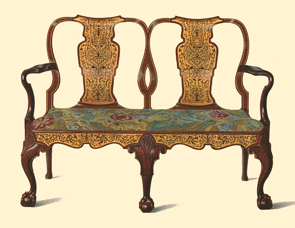 Sofa「Walnut Settee Inlaid With Marquetry」:写真・画像(14)[壁紙.com]