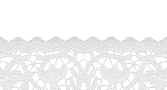 Lace pattern「seamless edge lace doily/isolated on white」:スマホ壁紙(2)