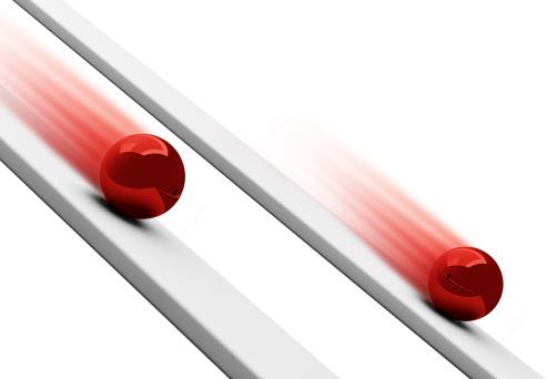 Rolling「Red chrome balls rolling downwards 3d」:スマホ壁紙(11)