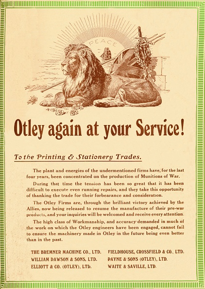 Sibling「Otley Again At Your Service - To The Printing & Stationery Trades, 1919」:写真・画像(11)[壁紙.com]