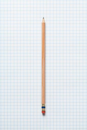 Lead「Single wooden sharpened pencil on graph paper」:スマホ壁紙(17)
