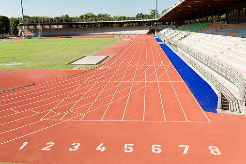 Sports Track「Italy, Florence, track and field stadium」:スマホ壁紙(4)