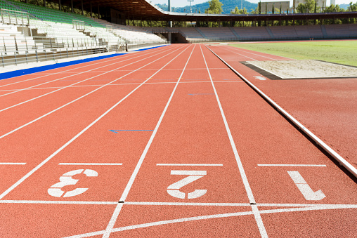 Sports Track「Italy, Florence, track and field stadium」:スマホ壁紙(0)