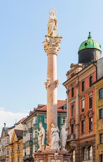 北チロル「The St. Anna's Column at Maria Theresien Street」:スマホ壁紙(2)