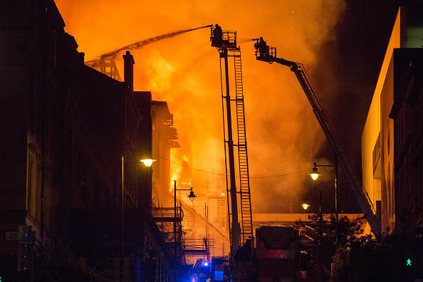 Glasgow - Scotland「Glasgow School Of Art Building On Fire For The Second Time」:写真・画像(6)[壁紙.com]