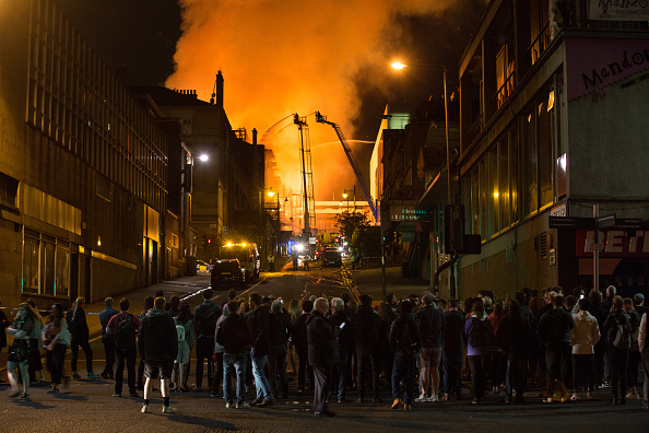 Glasgow「Glasgow School Of Art Building On Fire For The Second Time」:写真・画像(1)[壁紙.com]