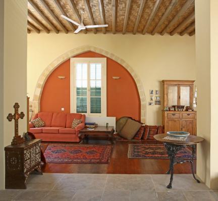 Ceiling Fan「Living area of Mediterranean town house」:スマホ壁紙(18)