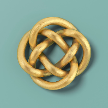 Tied Knot「Gold cord forming a Keltic infinity knot」:スマホ壁紙(14)